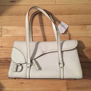 WOW WHAT A BAG DIOR SADDLE BAG WHITE